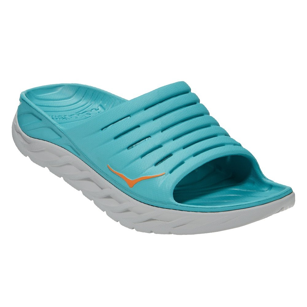 Hoka One One Ora Recovery Slide Sandals (Men's) - Aquarelle/Blazing Orange