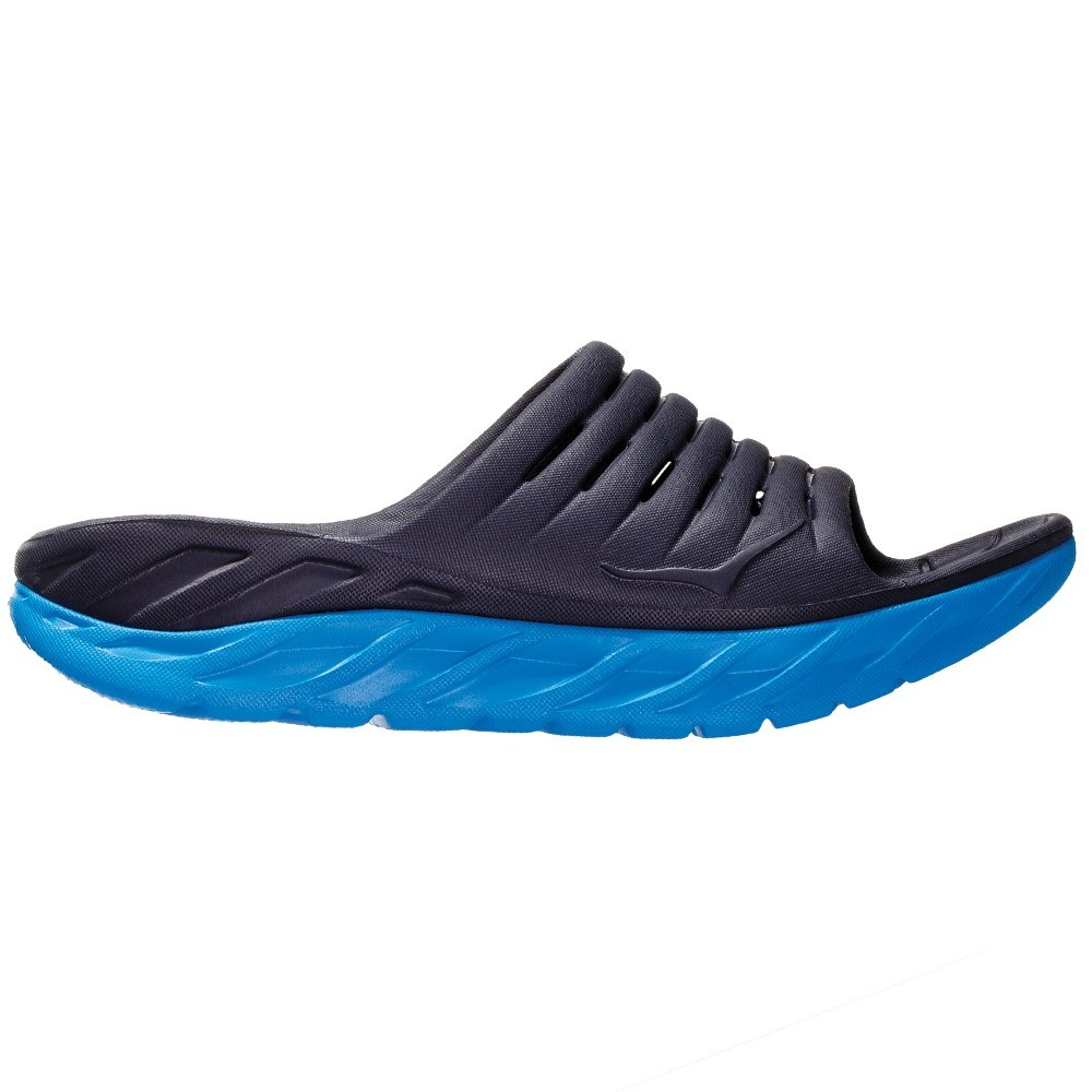 Hoka One One Ora Recovery Slide Sandals (Men's) - Ebony/Dresden Blue