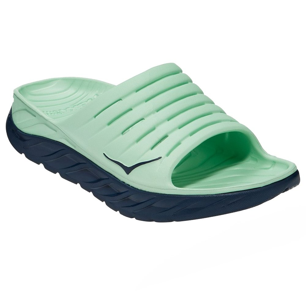 Hoka One One Ora Recovery Slide Sandals (Men's) - Green Ash/Outer Space