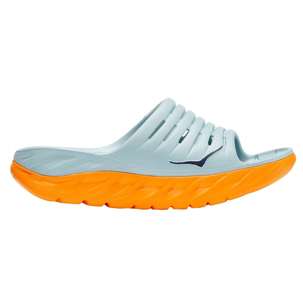 Hoka One One Ora Recovery Slide Sandal (Women's) - Blue Haze/Bright Marigold