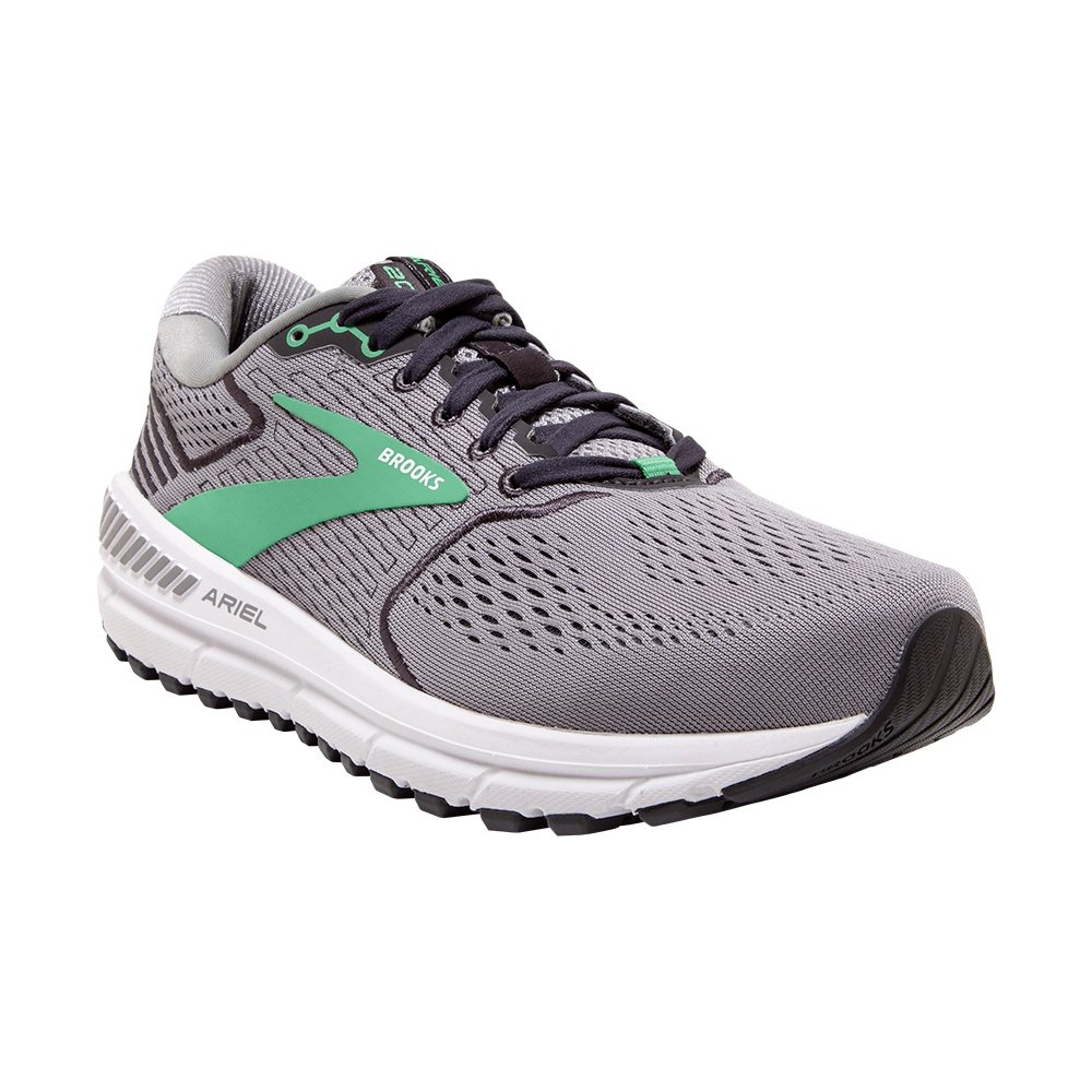 Brooks Ariel 20 Running Shoe (Women's) - Alloy/Blackened Pearl/Green