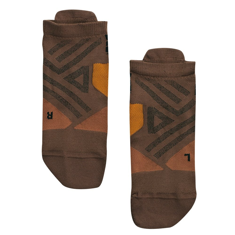 On Low Running Sock (Men's) - Cocoa/Black