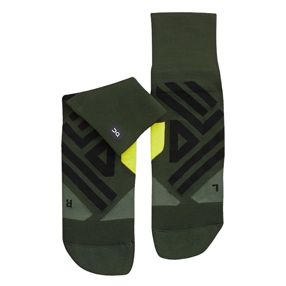 On Mid Running Sock (Men's) - Jungle/Lime