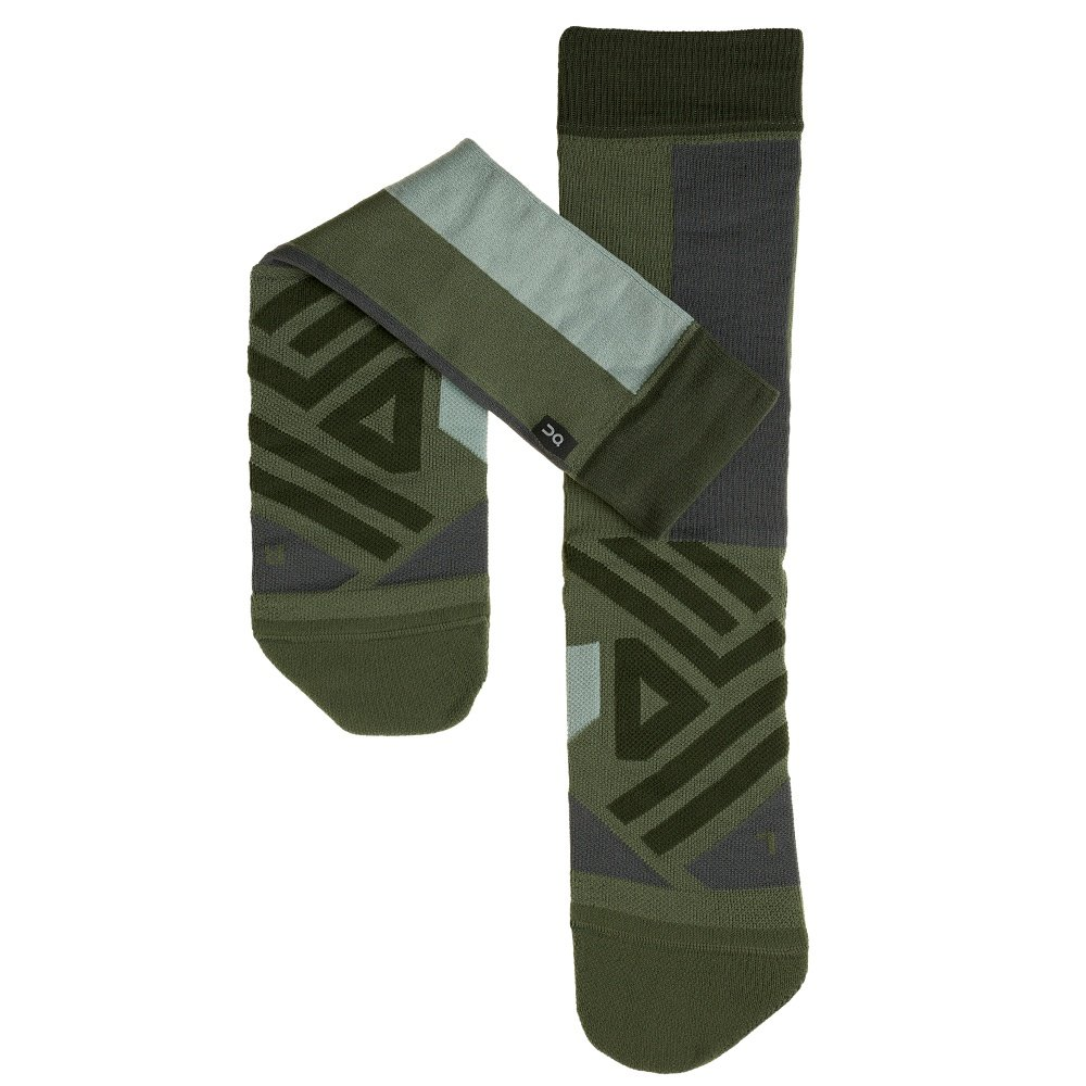 On High Running Sock (Men's) - Forest/Moss
