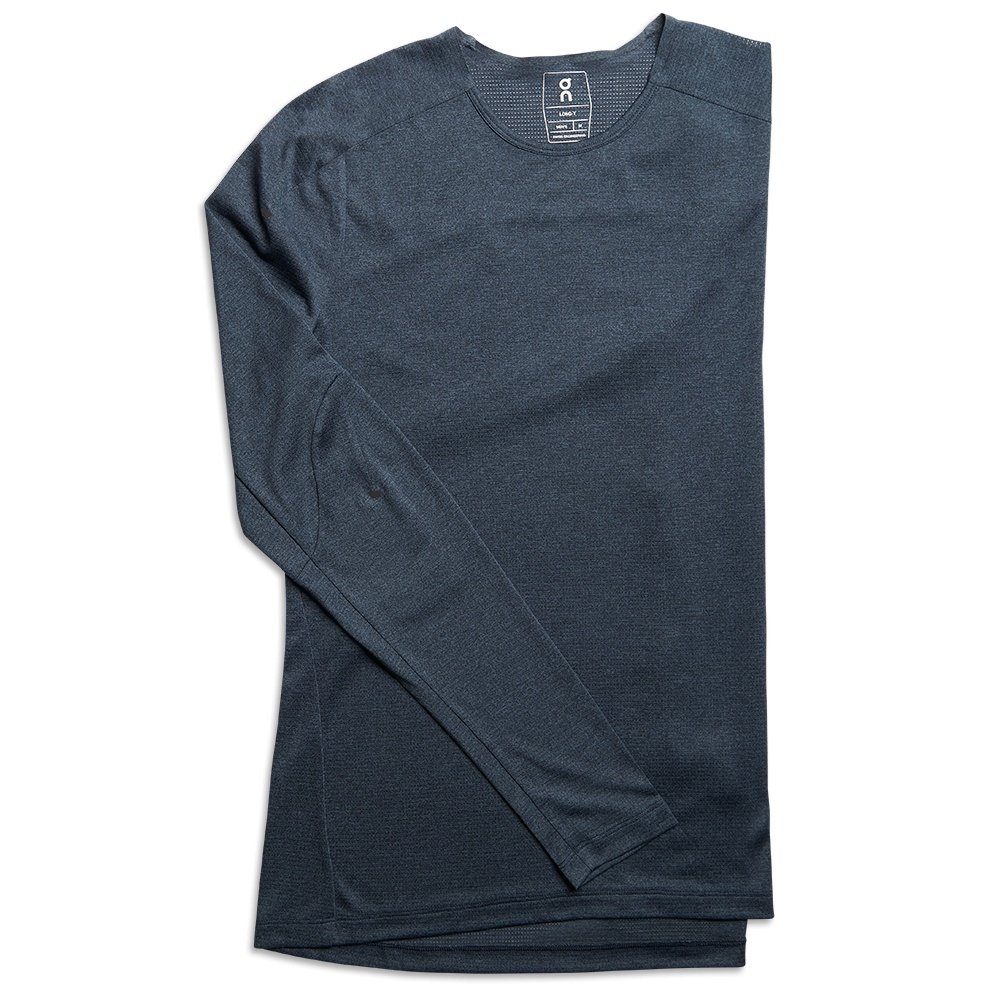 On Comfort Long-T Running Shirt (Men's) - Navy