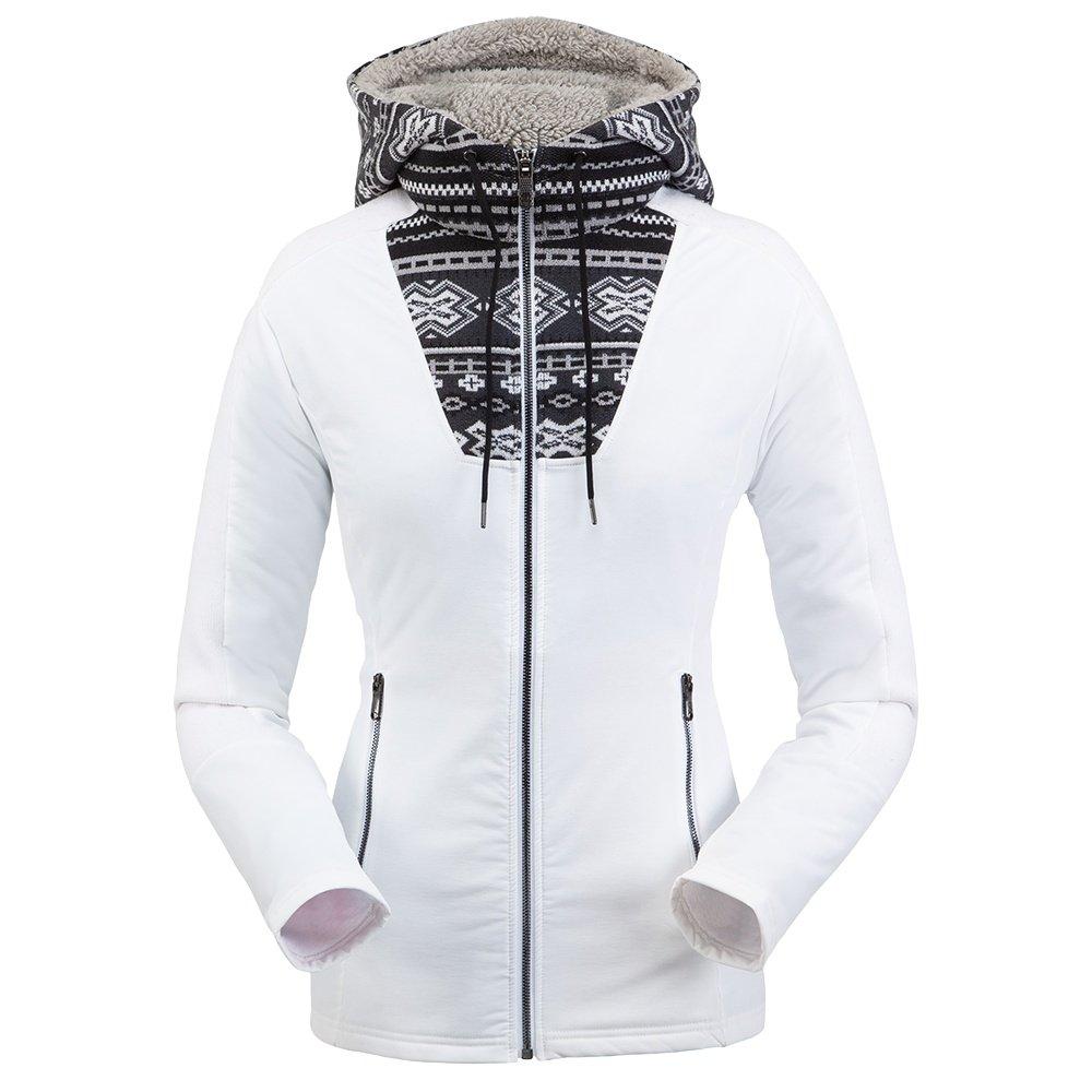 Spyder Soiree Hybrid Hoodie Fleece Jacket (Women's) - White