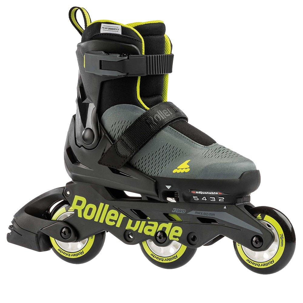 Rollerblade Microblade Free Inline Skate (Boys') - Anthracite/Lime