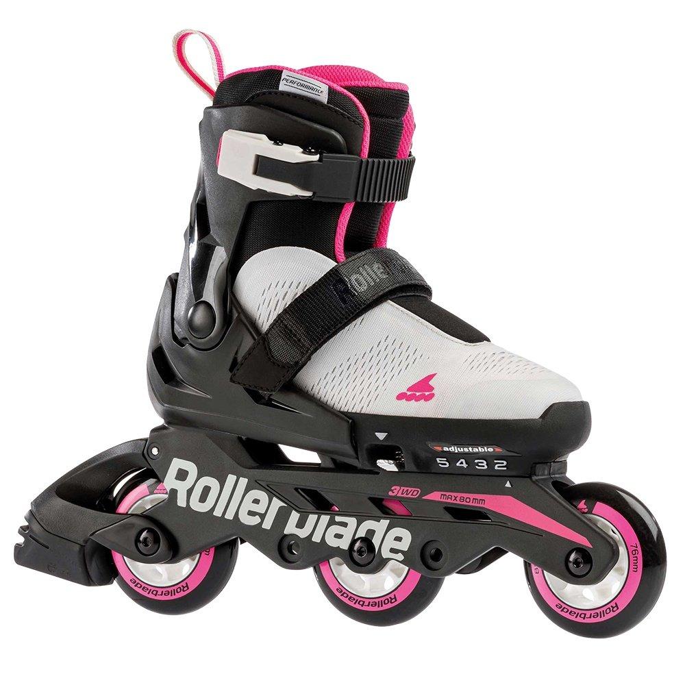 Rollerblade Microblade Free Inline Skate (Girls') - Cool Grey/Candy Pink