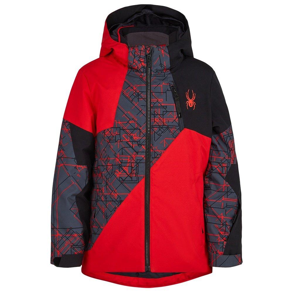Spyder Ambush Insulated Ski Jacket (Boys') - Volcano/Network Print