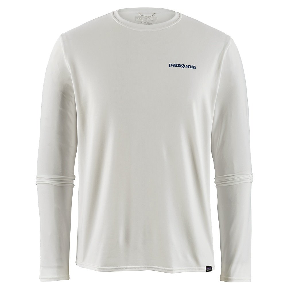Patagonia Long Sleeve Capilene Cool Daily Graphic Shirt (Men's) - Boardshort Logo/White