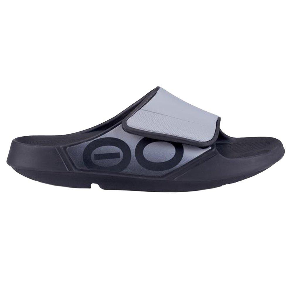 OOFOS OOahh Sport Flex Sandals (Adults') - Black/Gray