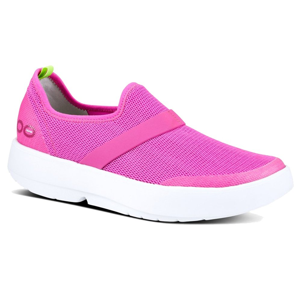 OOFOS OOmg Mesh Shoe (Women's) - White/Pink