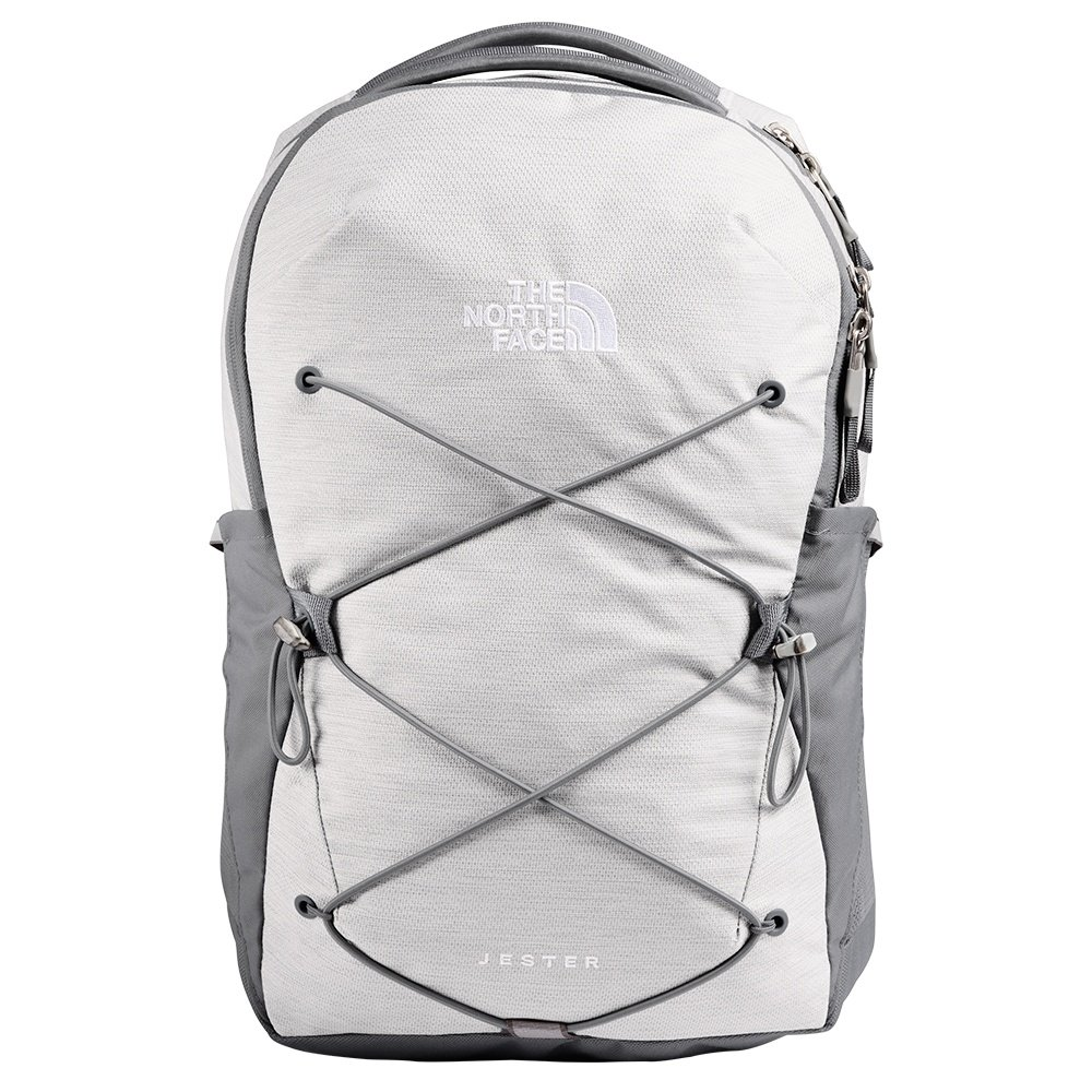 The North Face Jester Backpack (Women's) - TNF White Metallic/Mid Grey