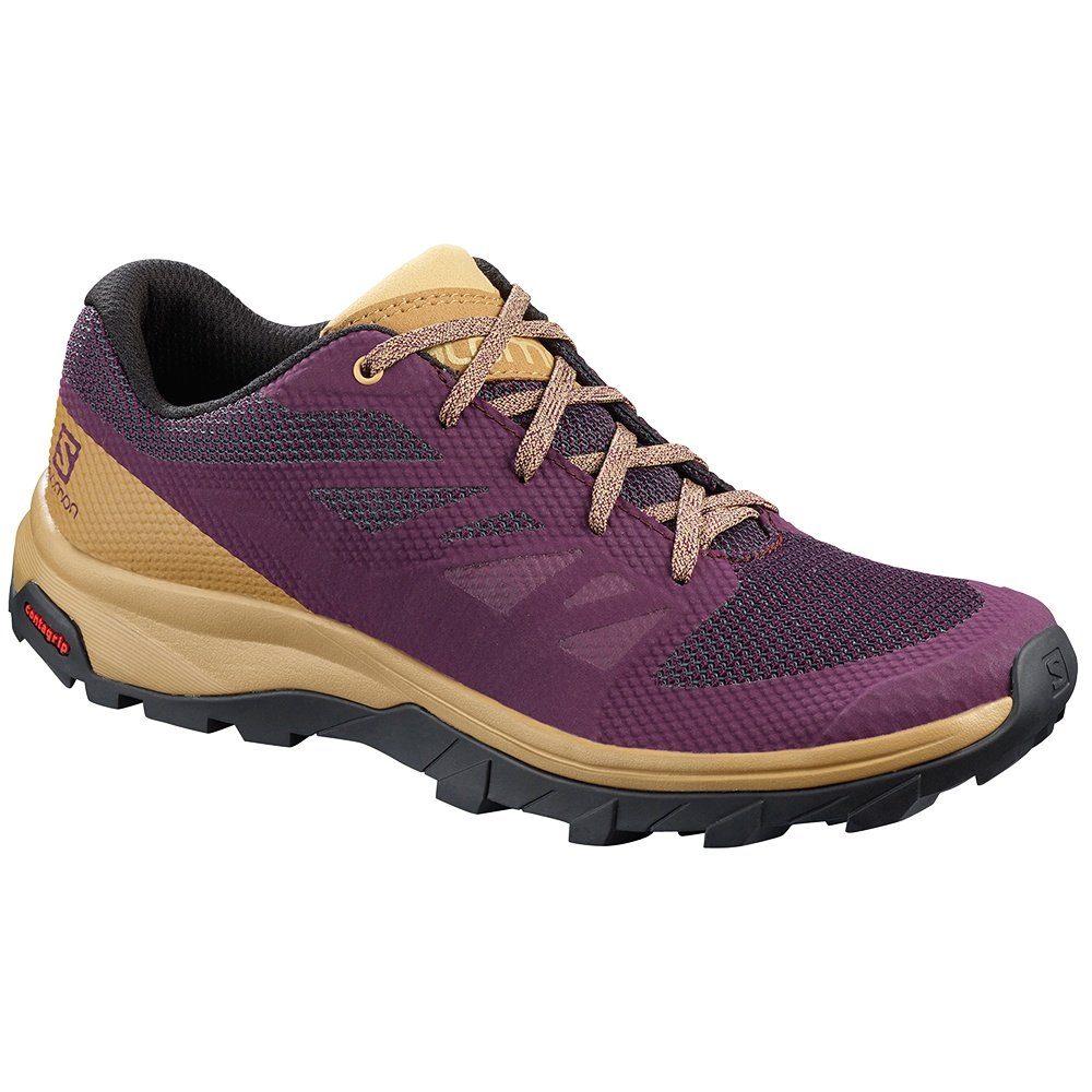 Salomon Outline Hiking Shoe (Women's) - Potent Purple/Taos Taupe