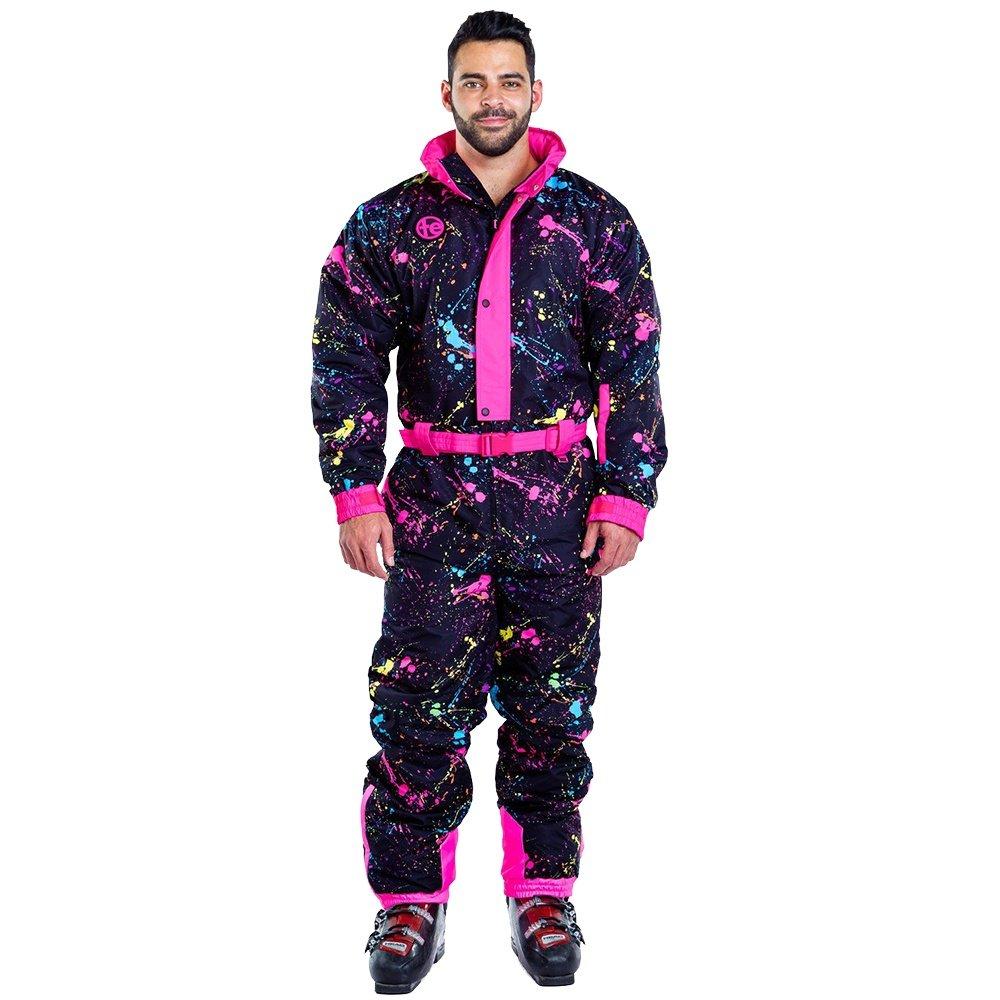 Tipsy Elves Sendy Splatter Ski Suit (Men's) - Black Paint