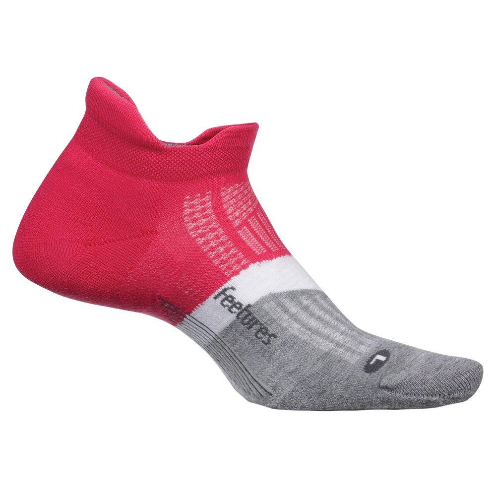 Feetures Elite Cushion No Show Tab Running Sock (Adults') - Fierce Magenta