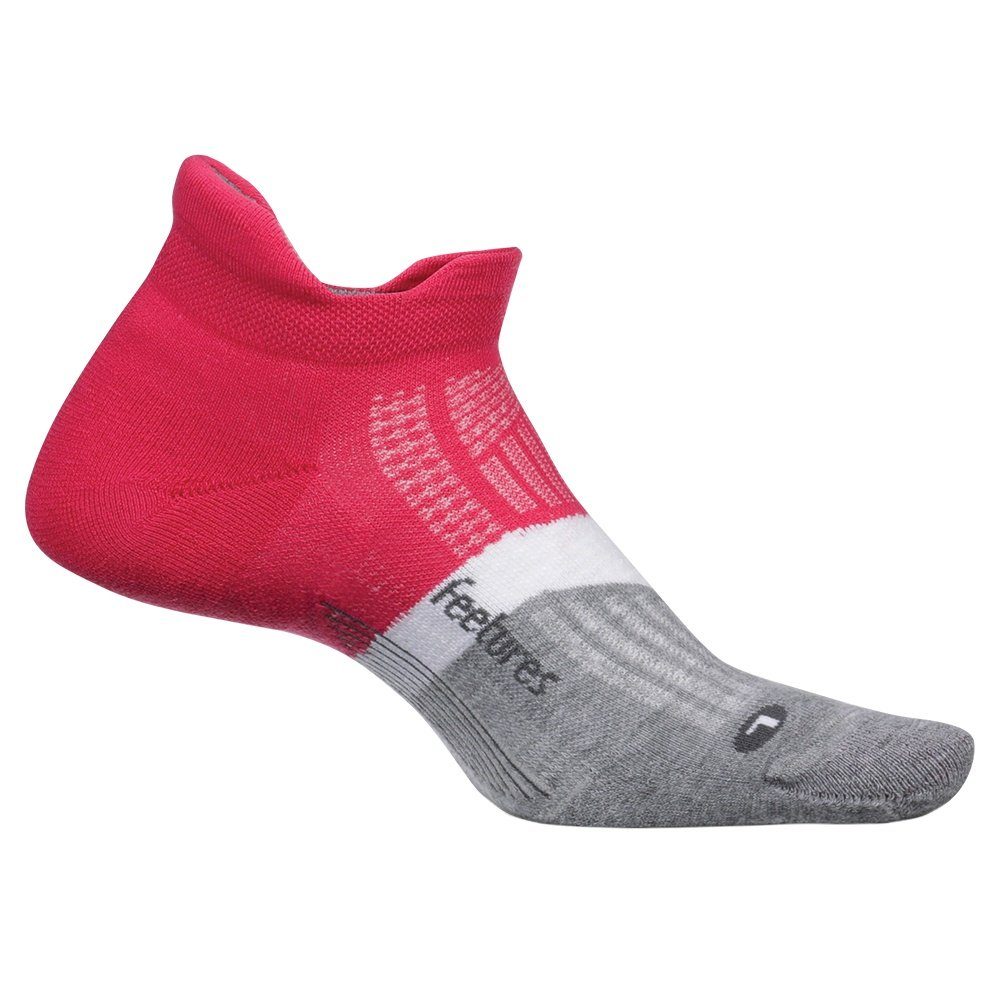 Feetures Elite Max No Show Tab Running Sock (Men's) - Fierce Magenta