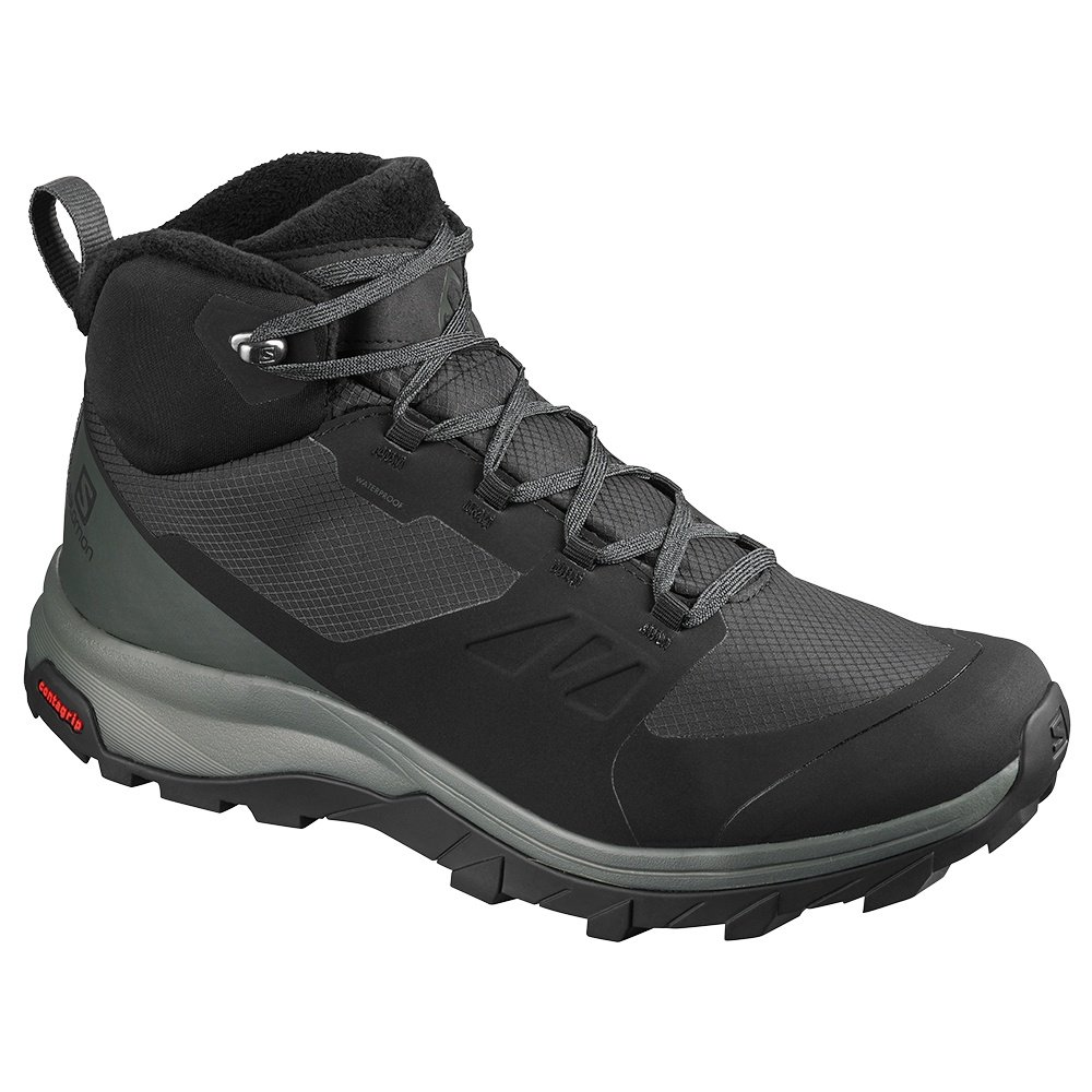 Salomon OUTsnap CS Waterproof Winter Boot (Men's) - Black/Urban Chic/Black