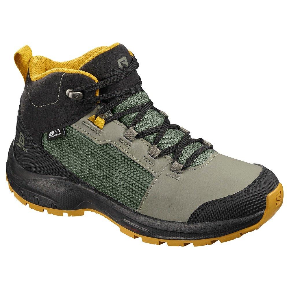 Salomon Outward CSWP Hiking Boot (Boy's) - Castor Grey/Black/Arrowood