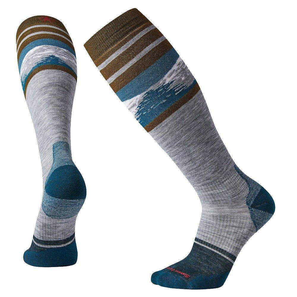 SmartWool PhD Snow Light Elite Pattern Ski Sock (Men's) - Lunar Gray