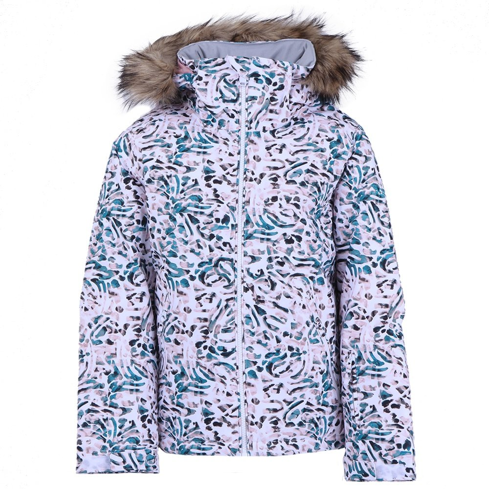 Roxy American Pie Insulated Snowboard Jacket (Girls') - Bright White Izi