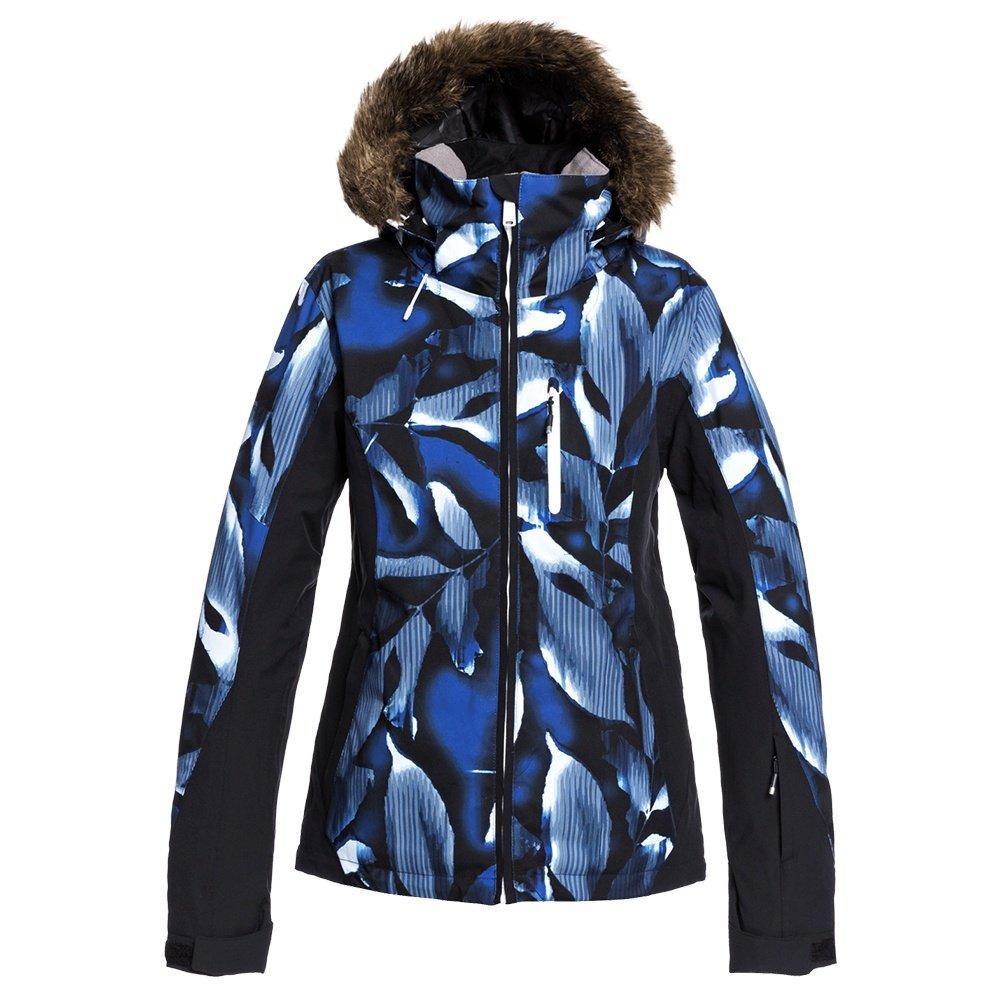 Roxy Jet Ski Premium Insulated Snowboard Jacket (Women's) - Mazarine Blue Striped Leaves