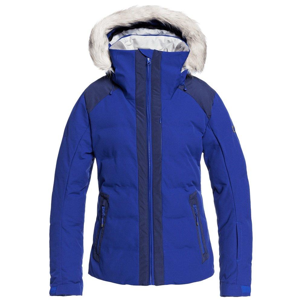 Roxy Clouded Insulated Snowboard Jacket (Women's) - Mazarine Blue