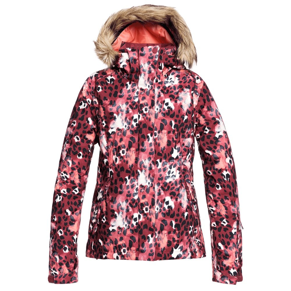 Roxy Jet Ski Insulated Snowboard Jacket (Women's) - Oxblood Red Leopold