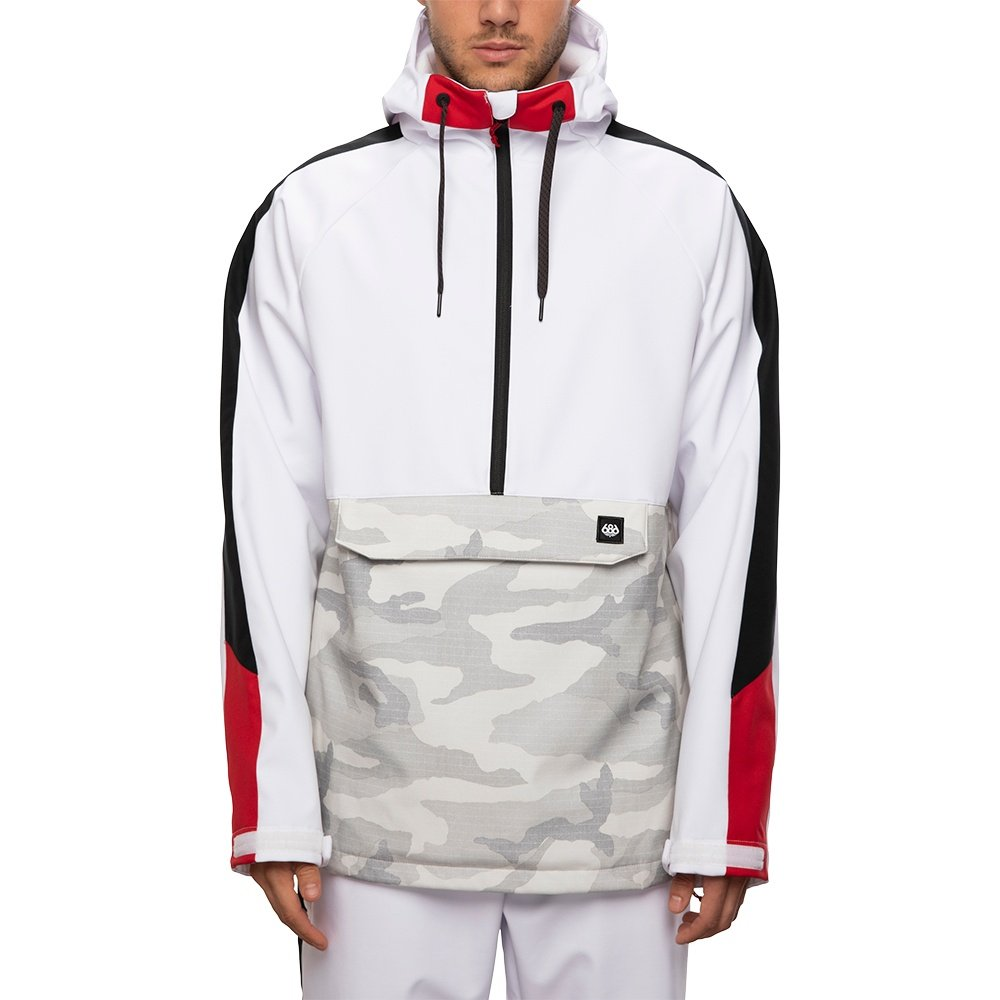 686 Waterproof Anorak Softshell Snowboard Jacket (Men's) - White
