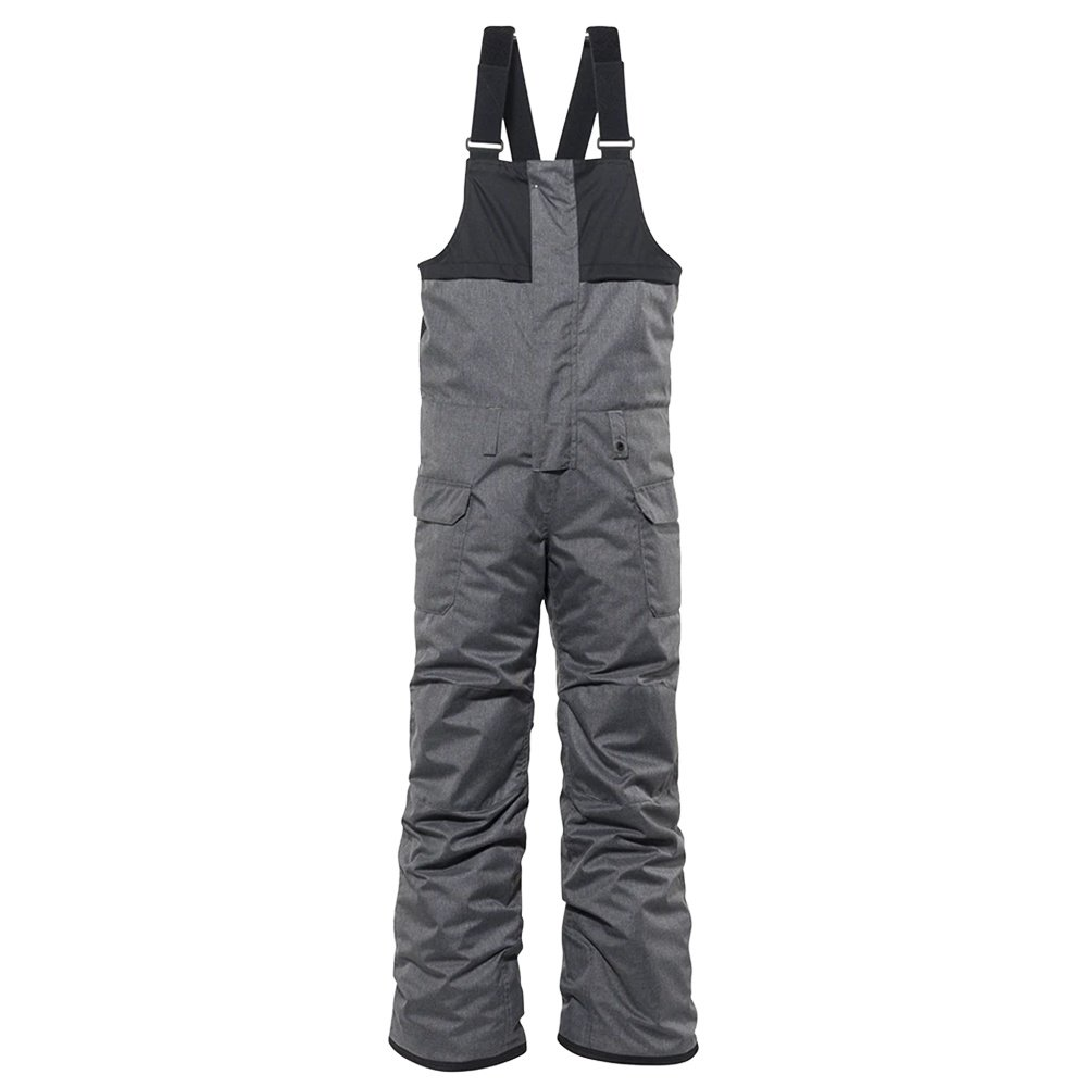 686 Frontier Insulated Snowboard Bib (Boy's) - Gray