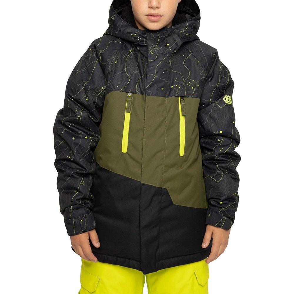686 Geo Insulated Snowboard Jacket (Boys') - Black Goblin Bandana