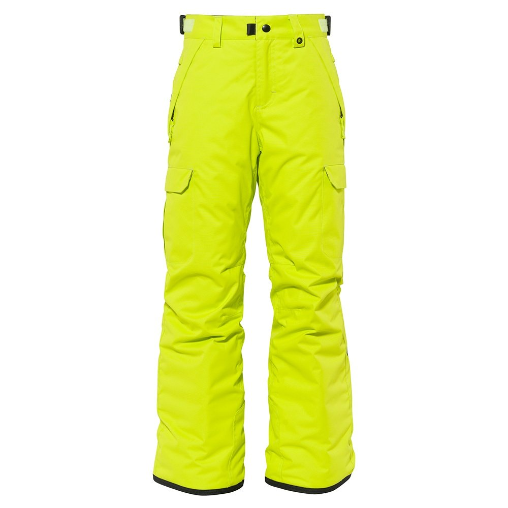 686 Infinity Cargo Insulated Snowboard Pant (Boys') - Lime