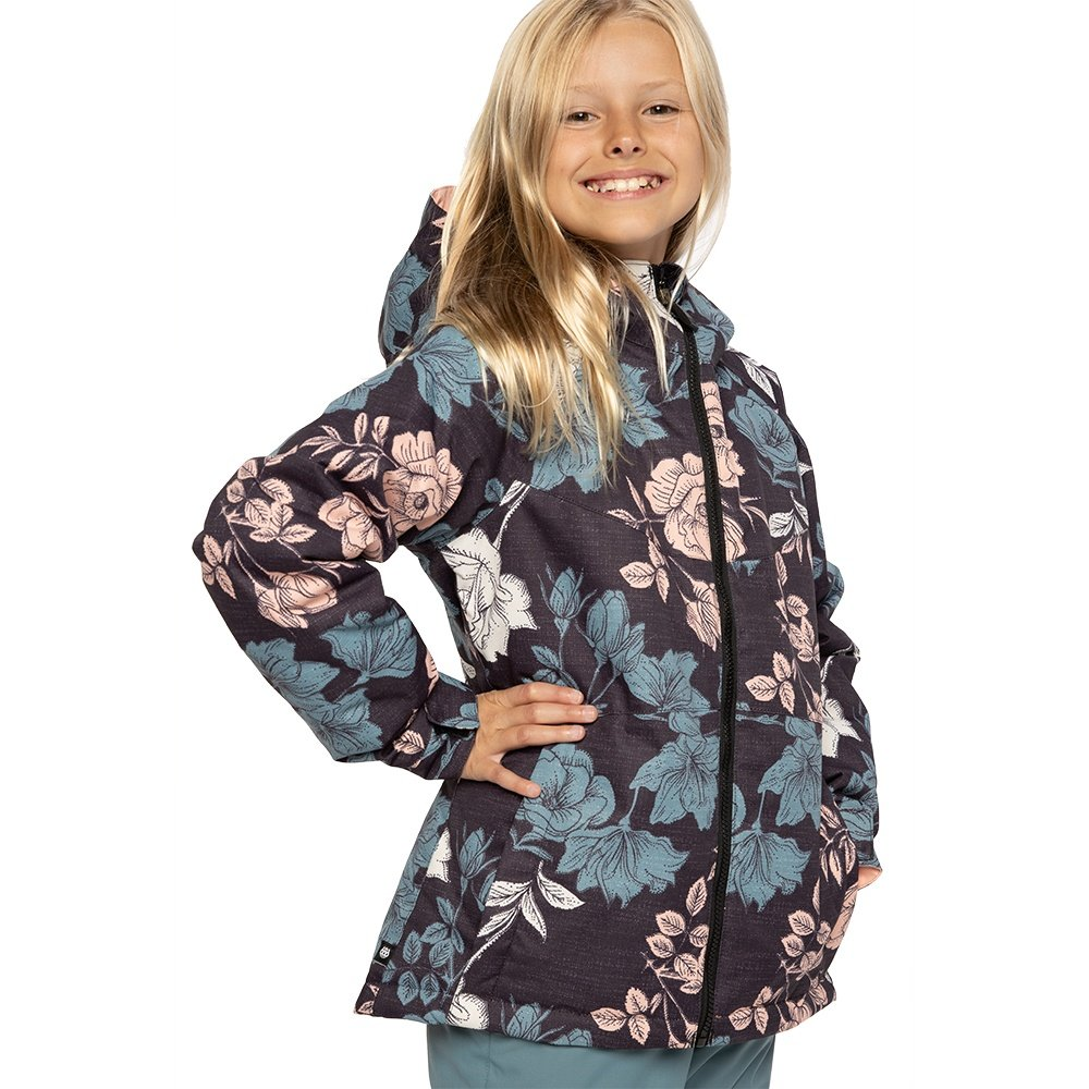 686 Athena Insulated Snowboard Jacket (Girls') - Coral Pink Flowers