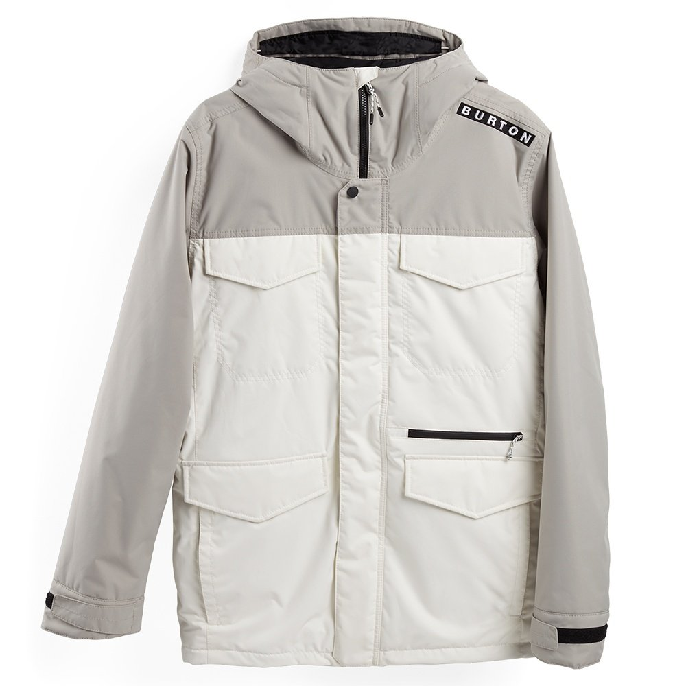 Burton Covert Insulated Snowboard Jacket (Men's) - Iron Gray/Sout White