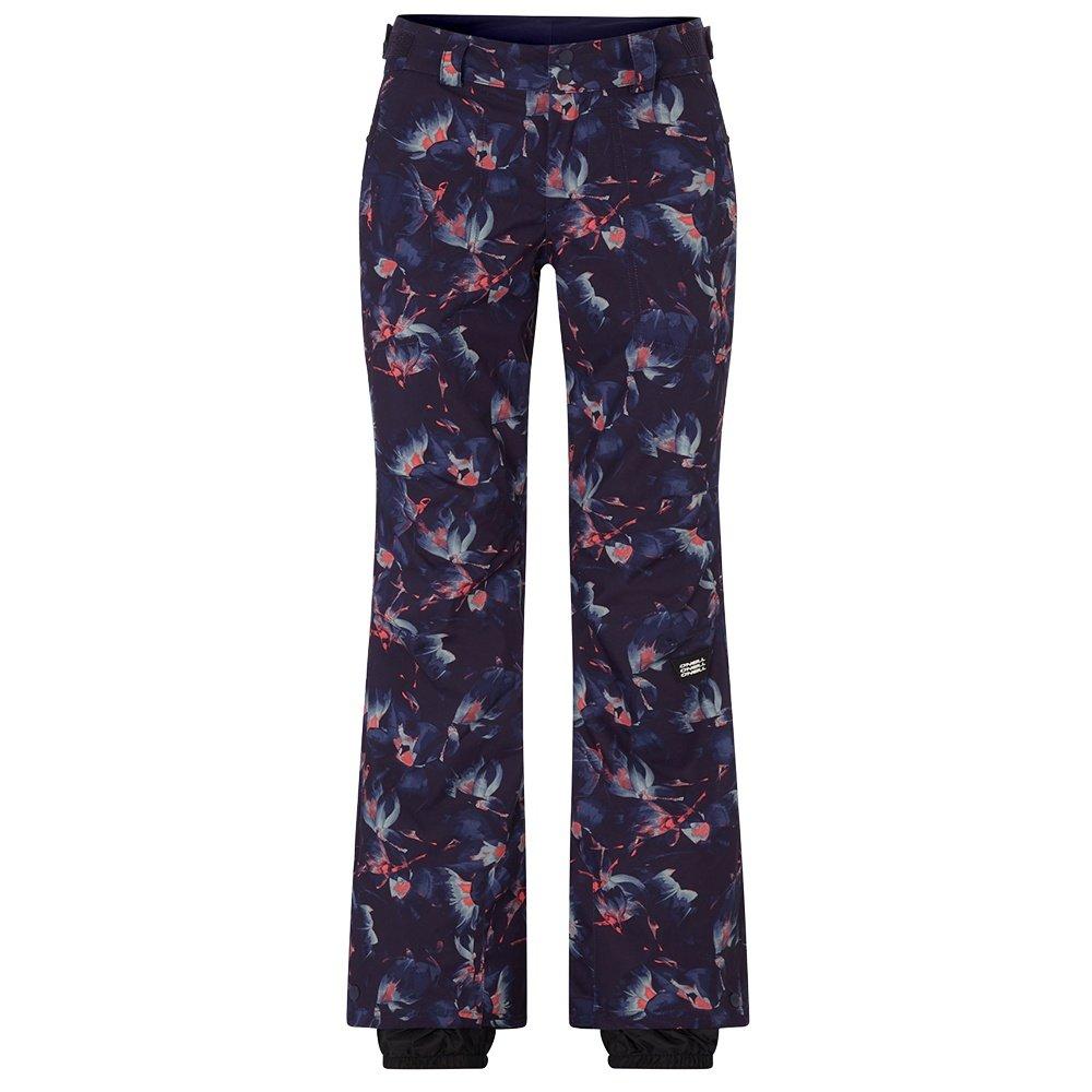 O'Neill Glamour Insulated Snowboard Pants (Women's) - Green AOP/Blue