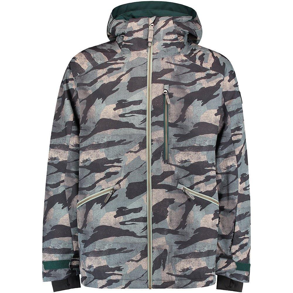 O'Neill Diabase Insulated Snowboard Jacket (Men's) - Green Print/Black