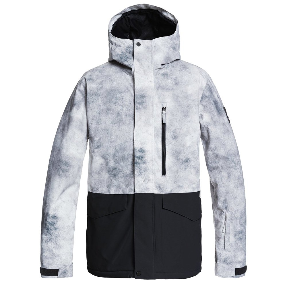 Quiksilver Mission Printed Block Insulated Snowboard Jacket (Men's) - Iron Gate X-posure