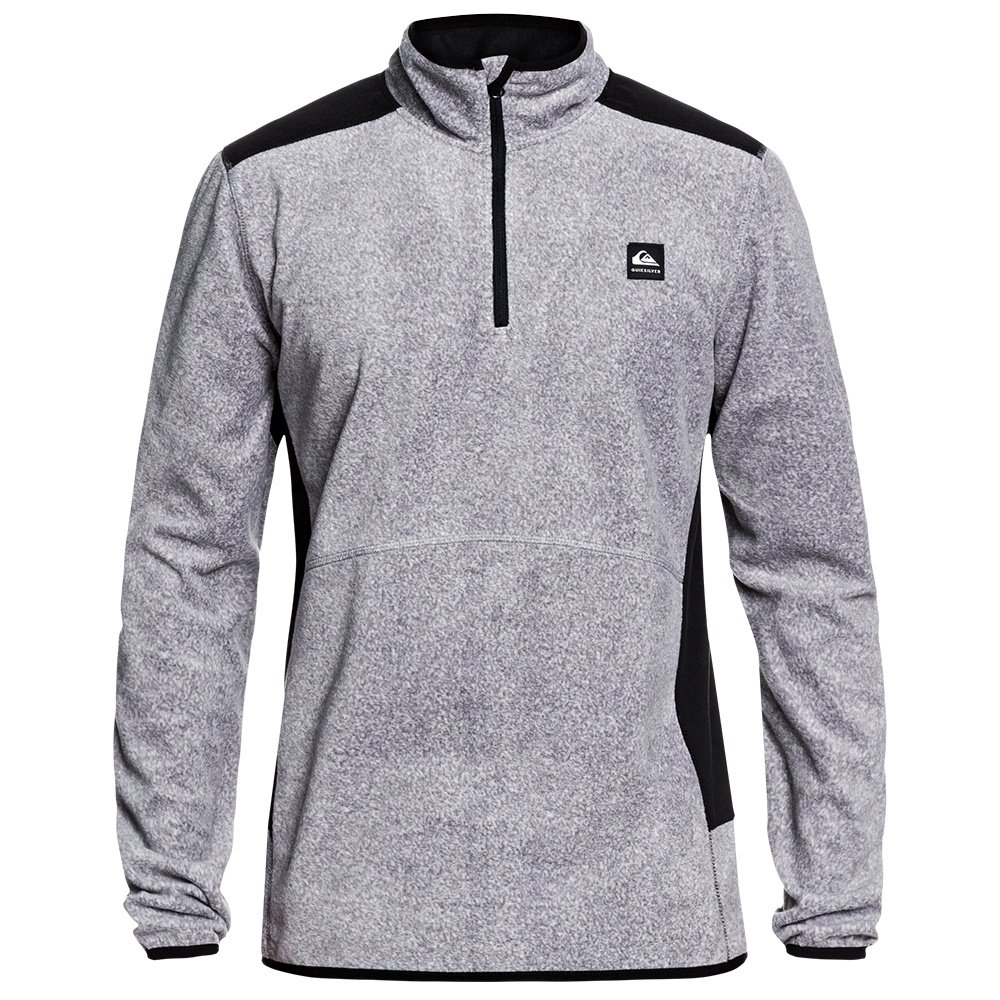 Quicksilver Aker 1/2-Zip Fleece Mid-Layer (Men's) - Heather Grey