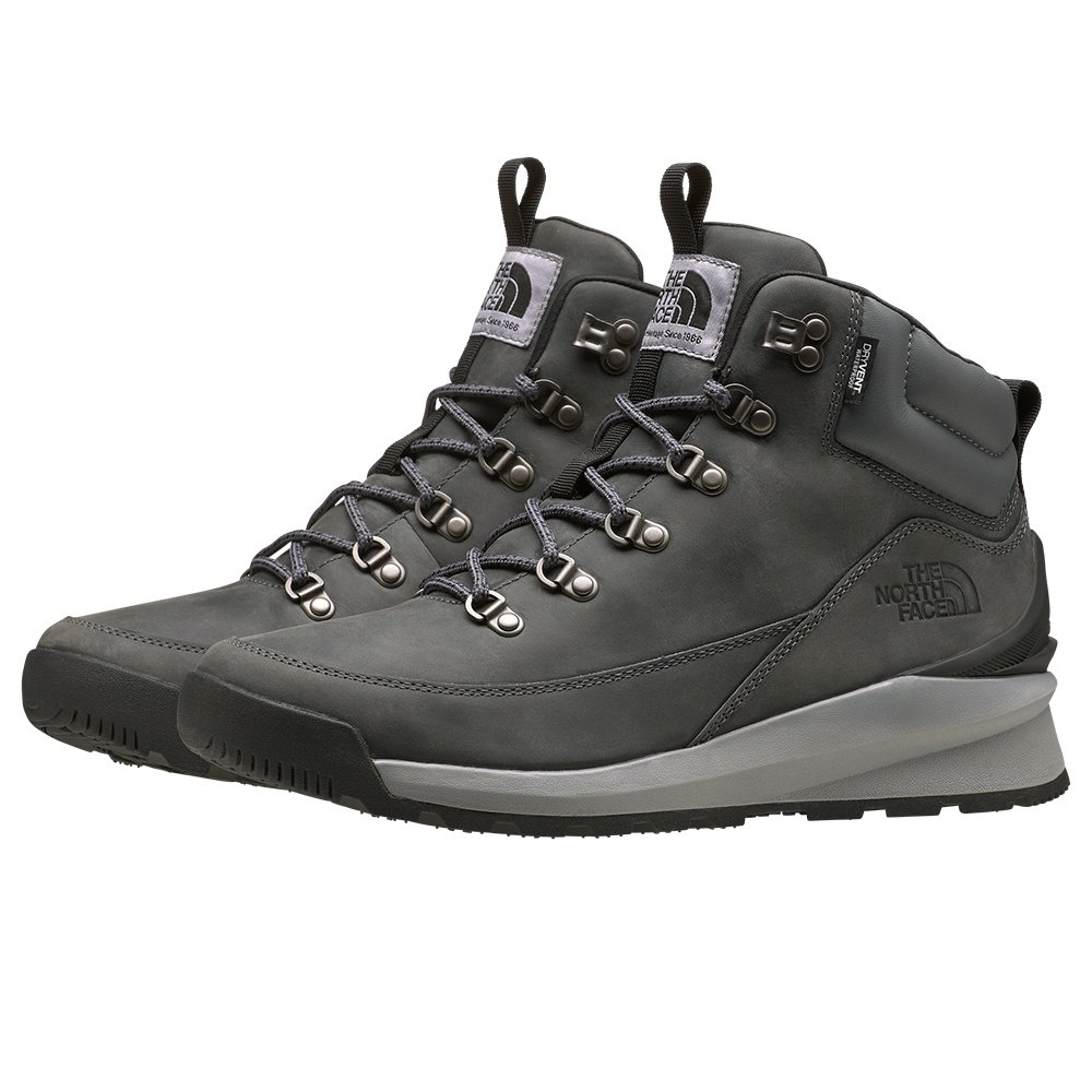 The North Face Back-To-Berkeley Mid Waterproof Hiking Boot (Men's) - Zinc Grey/TNF Black
