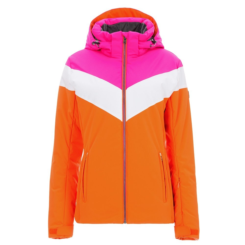 Fera Christy Insulated Ski Jacket (Women's) - Orange/Hot Pink/White Cloud