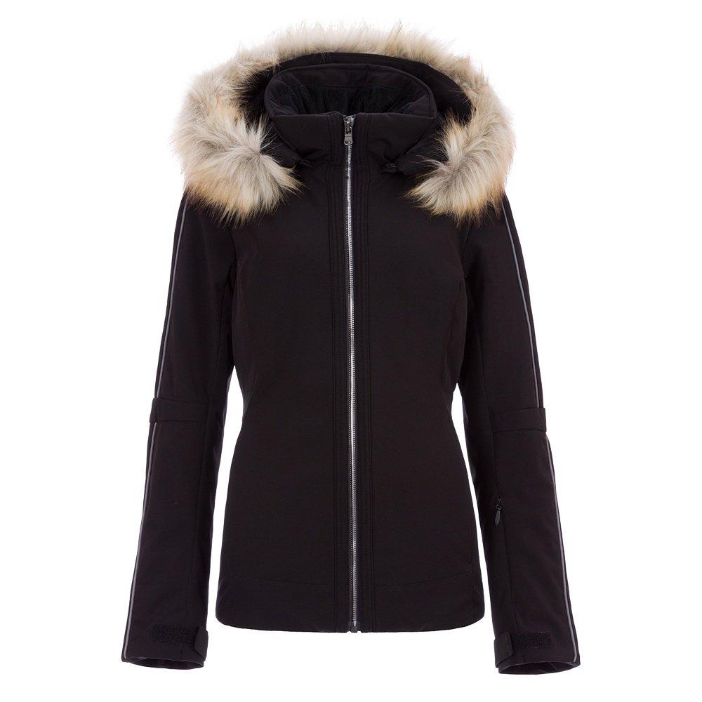 Fera Eva Stretch Insulated Ski Jacket with Faux Fur (Women's) - Black/Black Anthracite