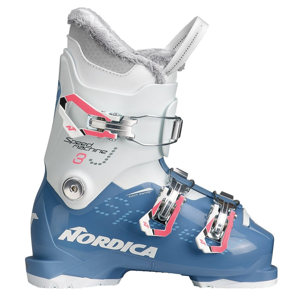 Nordica Speedmachine J3 Ski Boot (Kids') - Light Blue/White