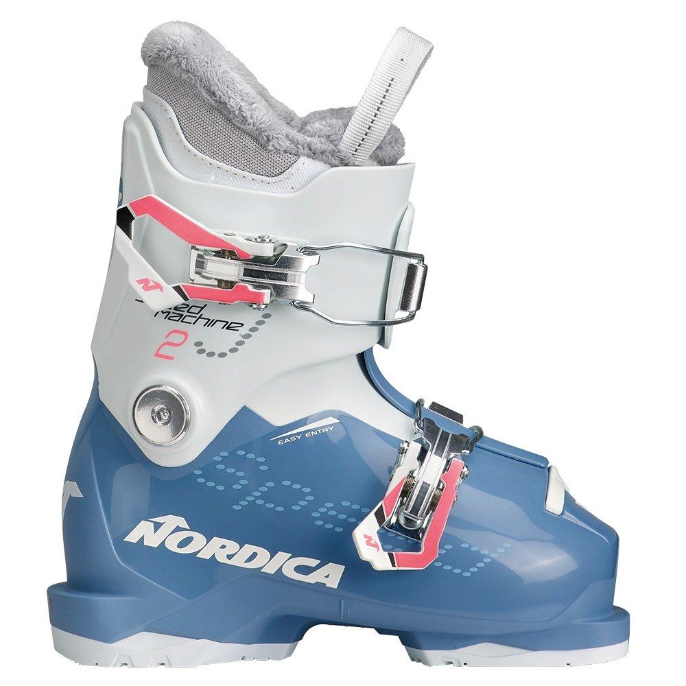 Nordica Speedmachine J2 Ski Boot (Kids') - Light Blue/White