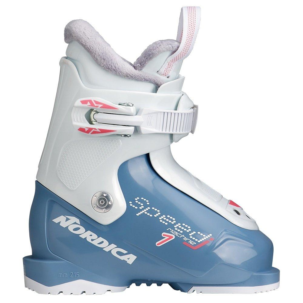 Nordica Speedmachine J1 Ski Boot (Kids') - Light Blue/White