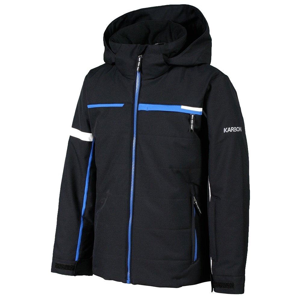 Karbon Speed Insulated Ski Jacket (Boys') - Black/Macaw Blue/Arctic White