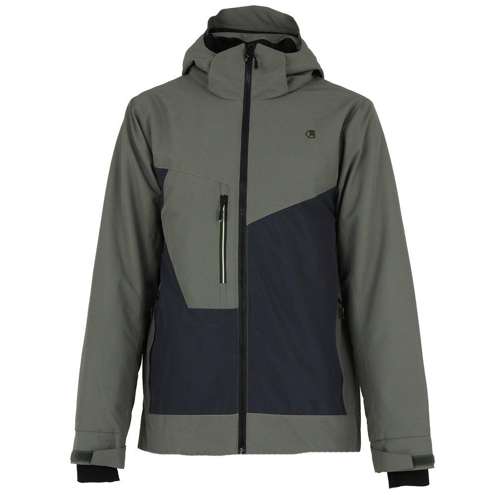Liquid Dark Insulated Snowboard Jacket (Men's) - Khaki/Charcoal