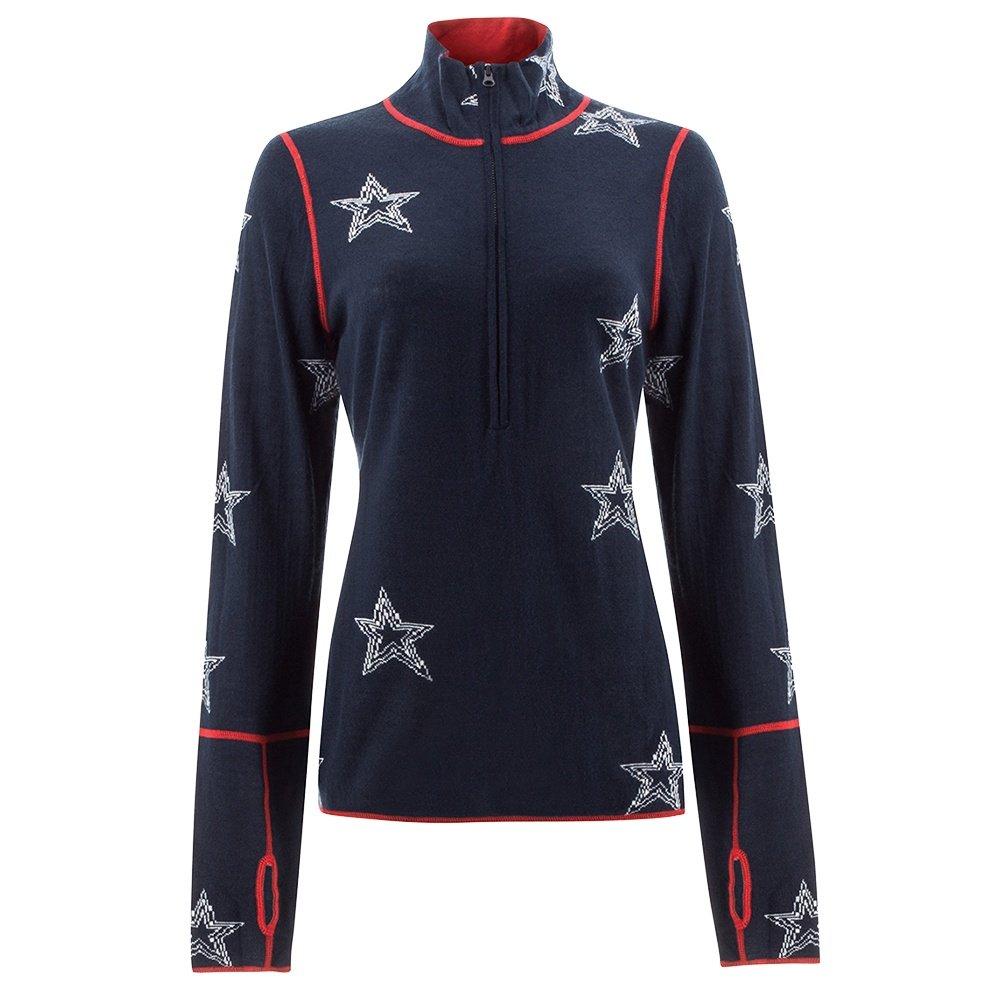 Icelandic Super Nova 1/2-Zip Sweater (Women's) - Navy