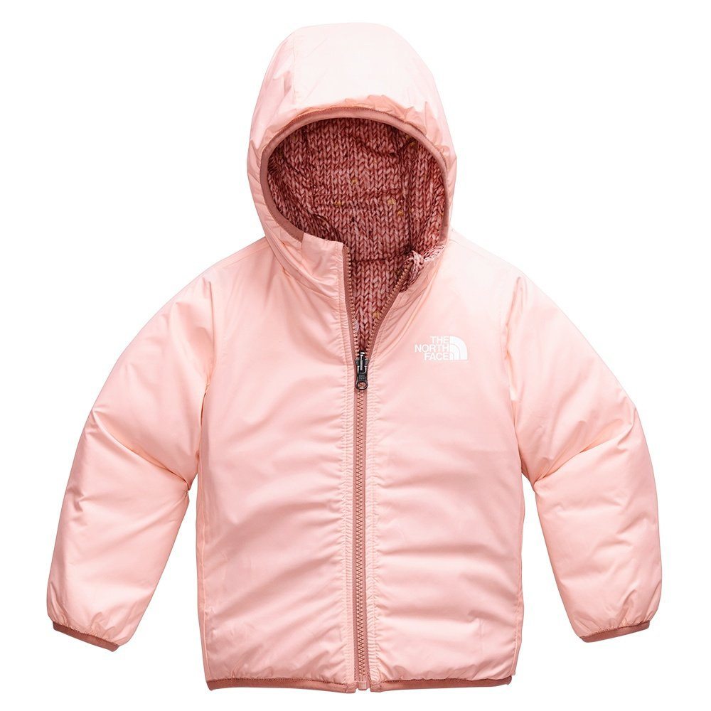 The North Face Reversible Perrito Jacket (Little Girls') - Pinky Clay Confetti Sweater Print