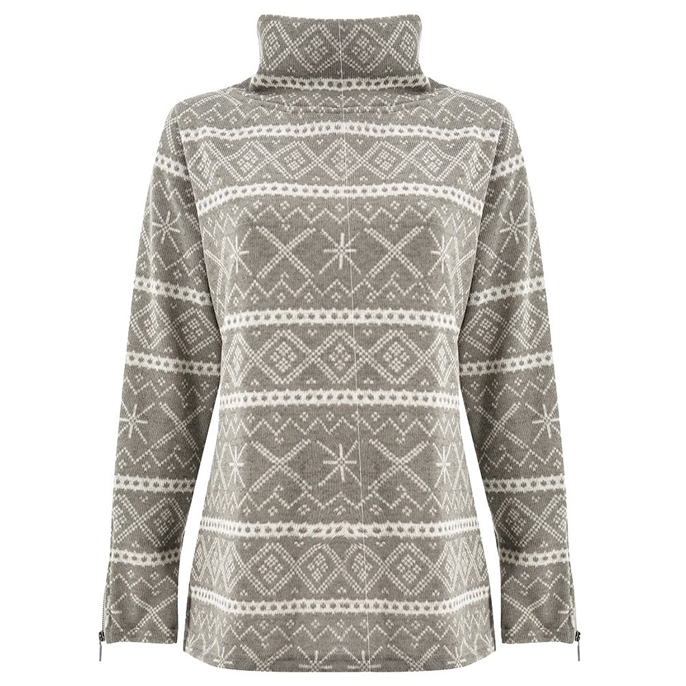 Wooly Bully Alpine Pullover Sweater (Women's) - Grey