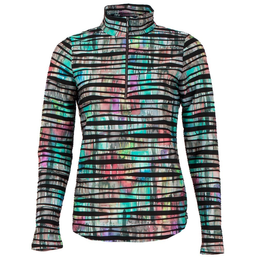 Sno Skins Twisted Print 1/4-Zip Mid-Layer (Women's) - Rainy Days
